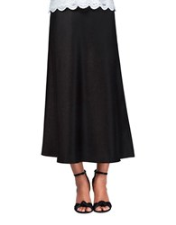 Alex Evenings Solid A Line Skirt Black