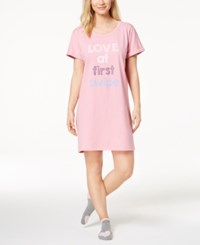 By Jennifer Moore Graphic Print Sleepshirt With Socks Created For Macy's Rosebay Pink