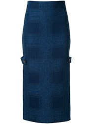 Manning Cartell Check This Out Midi Skirt Blue