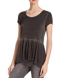 Nytt Babydoll Tee Black Oil Wash