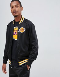 Mitchell And Ness L.A. Lakers Track Jacket In Black