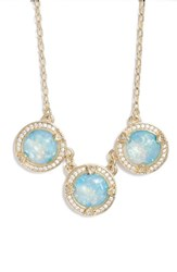 Melinda Maria Juile Opal And Crystal Pendant Necklace
