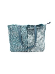 Lavand Faux Fur Tote Bag Blue