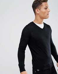 Celio Merino Wool Jumper In Black