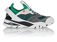 Calvin Klein 205W39nyc Rubber Strap Leather And Suede Sneakers Green Grey