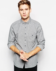 Pull And Bear Pullandbear Shirt In Brushed Cotton Grey