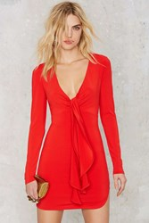 Nasty Gal Deep 'Em Guessing Jersey Dress Red