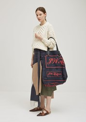 J.W.Anderson J.W. Anderson Logo Printed Tote Storm