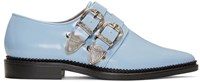 Toga Pulla Blue Two Buckle Loafers