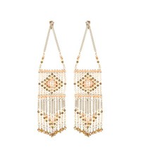 Valentino Native Couture 1975 Beaded Earrings Multicoloured