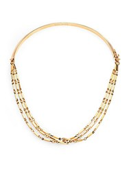 Eddie Borgo Peaked Chain Necklace Gold