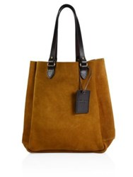 Filson Rugged Suede Tote Saddle Brown