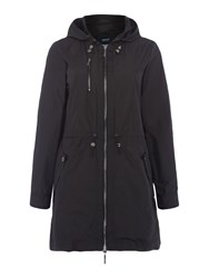Armani Jeans Lightweight Parka Coat In Black Black