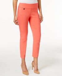 Alfani Petite Tummy Control Pull On Capri Pants Only At Macy's Tropical Reef