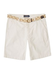 Howick Men's Boston Chino Flat Front Shorts Porcelain