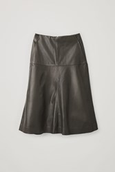 Cos A Line Leather Skirt Green