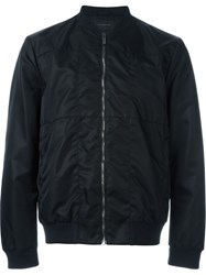 Christopher Kane Technical Grid Bomber Jacket Black