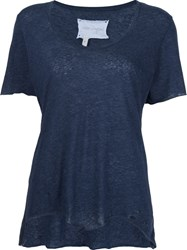 Greg Lauren Slouchy Crew Neck T Shirt Blue