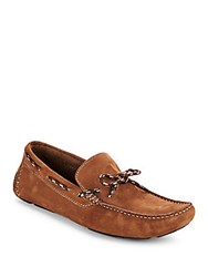 Saks Fifth Avenue Leather Boat Shoes Taupe