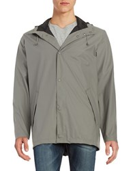 Cole Haan Button Front Rain Coat Iron
