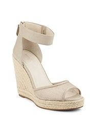 Kenneth Cole Holly H2 Espadrille Wedge Sandals Taupe