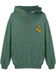 Vivienne Westwood Anglomania Oversized Logo Hoodie Green