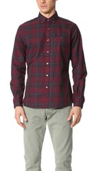 Todd Snyder Red Plaid Shirt Maroon