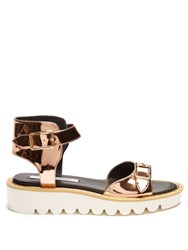 Stella Mccartney Odette Faux Leather Sandals Rose Gold