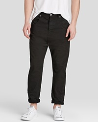 Mcq By Alexander Mcqueen Mcq Jeans Low Crotch Relaxed Fit In Darkest Black