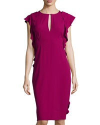 Philosophy Di Alberta Ferretti Ruffled Keyhole Dress Berry
