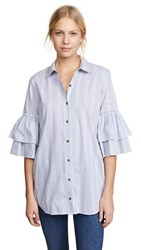Ella Moss Carissa Buttondown Pale Blue