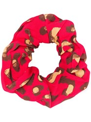Andamane Leopard Pattern Hair Band Red