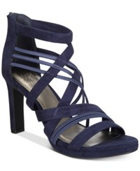 Impo Temple Stretch Platform Dress Sandals Women's Shoes Midnight Blue