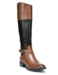 Sam Edelman Parker Round Toe Boots Whiskey Black