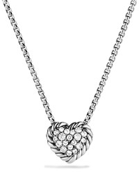 Chatelaine Heart Pendant Necklace With Diamonds David Yurman Red