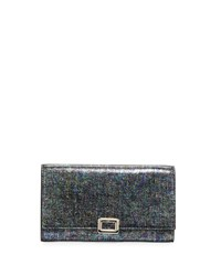 Iridescent Mini Buckle Wallet On Chain Black Roger Vivier