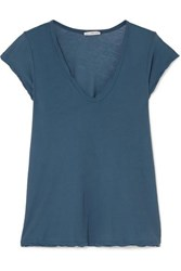 James Perse Cotton Jersey T Shirt Teal