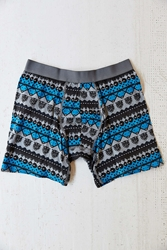 Urban Outfitters Bear Pattern Boxer Brief Blue