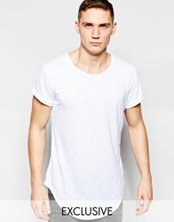G Star G Star Be Raw Exclusive To Asos T Shirt Vontoni Longline Loose Fit Crew Washed Out In White White