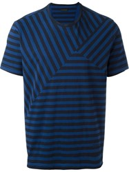 Z Zegna Striped T Shirt Blue