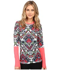 686 Bliss Base Layer Top Tribe Color Block Women's Clothing Multi