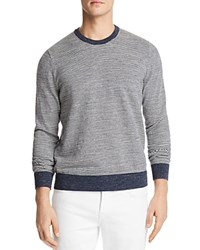 Bloomingdale's The Men's Store At Mini Stripe Crewneck Sweatshirt 100 Exclusive Oatmeal Gray