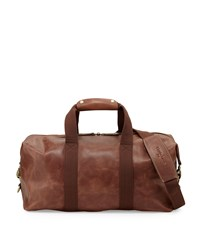 Christian Lacroix Wrangler Leather Weekender Bag Brown