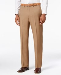 Haggar Eclo Stria Classic Fit Dress Pants Mocha