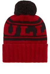 The Elder Statesman X Nba Men's Bulls Cashmere Pom Pom Beanie Red
