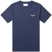Harmony Teddy Logo Pocket Tee Blue