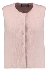 Giambattista Valli Mohair Blend And Silk Satin Vest Pink
