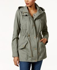 Style And Co Cotton Hooded Utility Jacket Only At Macy's Sage