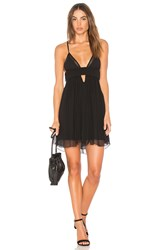 Indah Wonderland Triangle Mini Dress Black