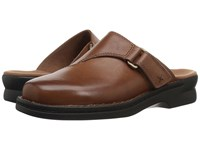 Clarks Patty Nell Dark Tan Leather Women's Clog Shoes Brown